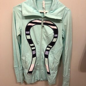 Lululemon zip up blue jacket